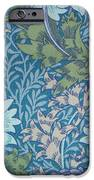 Chrysanthemums in Blue iPhone Case by William Morris