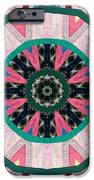 Circular Patchwork Art iPhone Case by Barbara Griffin