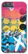 Circus - Contemporary Abstract Art iPhone Case by Linda Woods