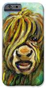 Cow Face 101 iPhone Case by Linda Mears