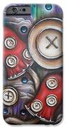 Crazy Button Mushrooms iPhone Case by Krystyna Spink