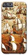 Defeat Of The Spanish Armada 1588 iPhone Case by Photo Researchers