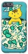 Dinnerware sets kitten in a teapot iPhone Case by Budi Kwan