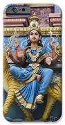 Durga Statue on Hindu Gopuram iPhone Case by Tim Gainey