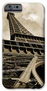 Eiffel Tower Paris France Black and White iPhone Case by Patricia Awapara