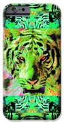 Eyes of The Bengal Tiger Abstract Window 20130205m180 iPhone Case by Wingsdomain Art and Photography