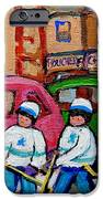FAIRMOUNT BAGEL STREET HOCKEY GAME iPhone Case by CAROLE SPANDAU