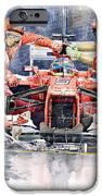 Ferrari F 2012 Fernando Alonso Pit Stop iPhone Case by Yuriy  Shevchuk