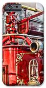 Fireman - Antique Brass Fire Hose iPhone Case by Paul Ward