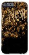 Fireworks 2013 in elegant gold and black iPhone Case by Marianne Campolongo