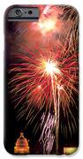 Fireworks over Washington DC iPhone Case by Carl Purcell