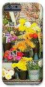 Flowers at the Bi-Rite Market in San Francisco  iPhone Case by Artist and Photographer Laura Wrede