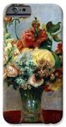 Flowers in a Vase iPhone Case by Pierre-Auguste Renoir
