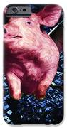 Flying Pigs Over San Francisco - square iPhone Case by Wingsdomain Art and Photography