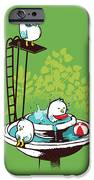 Fountain Pool party iPhone Case by Budi Kwan