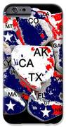 FRAGMENTED STATES of the UNION iPhone Case by BRUCE IORIO