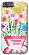 Fresh Picked Flowers- contemporary watercolor painting iPhone Case by Linda Woods