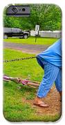 Girl Pretending to be a Horse Pulling a Trailer  iPhone Case by Ruth Hager