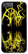 Glass Sculpture Yellow Flumes iPhone Case by Amy Cicconi