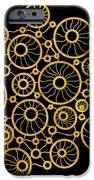 Golden Circles Black iPhone Case by Frank Tschakert