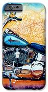 Harley Hog i iPhone Case by Hanne Lore Koehler