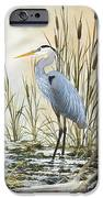 Heron and Cattails iPhone Case by James Williamson