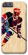 Hockey Player iPhone Case by Marvin Blaine