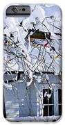 House under snow iPhone Case by Elena Elisseeva