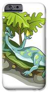 Illustration Of An Iguanodon Sunbathing iPhone Case by Stocktrek Images