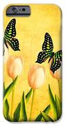 In the Butterfly Garden iPhone Case by Edward Fielding