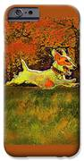 jack russell in autumn iPhone Case by Jane Schnetlage