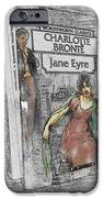 Jane Eyre Book Abstract iPhone Case by Nik Helbig