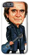 Johnny Cash iPhone Case by Art