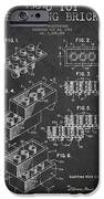 Lego Toy Building Brick Patent - Dark iPhone Case by Aged Pixel