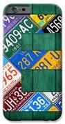Letter E Alphabet Vintage License Plate Art iPhone Case by Design Turnpike