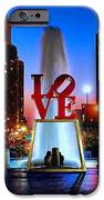 LOVE at Night iPhone Case by Nick Zelinsky
