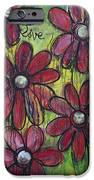 Love For Five Daisies iPhone Case by Laurie Maves ART