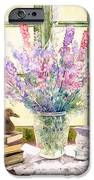 Lupins On Windowsill iPhone Case by Julia Rowntree