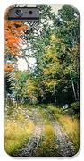 Maine Back Road iPhone Case by George DeLisle