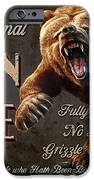 Man Cave Grizzly iPhone Case by JQ Licensing