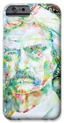 MARK TWAIN - watercolor portrait iPhone Case by Fabrizio Cassetta