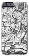 Massacre of Christian missionaries iPhone Case by Theodore De Bry