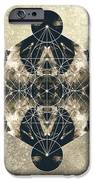 Metatron's Cube Silver iPhone Case by Filippo B