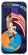 Modern American Veterans Day Greeting Card iPhone Case by Aloysius Patrimonio