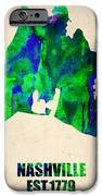 Nashville Watercolor Map iPhone Case by Naxart Studio