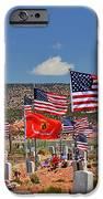 Navajo Veteran's Memorial Cemetery Tsehootsooi iPhone Case by Christine Till