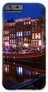 Night Lights on the Amsterdam Canals. Holland iPhone Case by Jenny Rainbow
