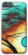 Original Bold Colorful Abstract Landscape Painting FAMILY JOY I by MADART iPhone Case by Megan Duncanson
