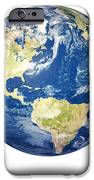 Planet earth on white - America iPhone Case by Johan Swanepoel