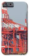 PNCT Facility in Port Newark-Elizabeth Marine Terminal I iPhone Case by Clarence Holmes